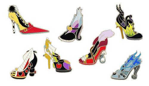 4c4d4ef16cf Disney Villain Shoes Pin Set - Disney Pins Blog