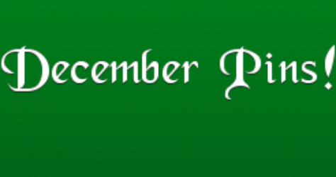 December Pins