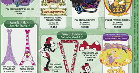 Disneyland Paris March 2014 Pins