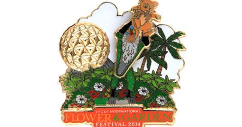 Epcot Flower Garden 2014 Simba Pin