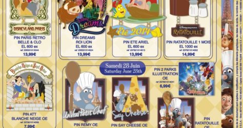 Disneyland Paris June 2014 Pins
