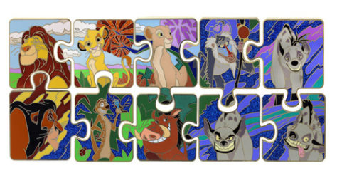 June Lion King Puzzle Pin Set