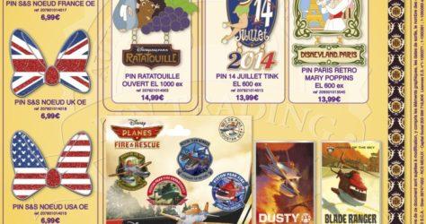 July 2014 Disneyland Paris Pins