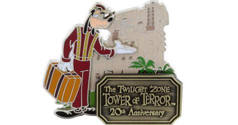 Tower of Terror 20th Anniversary Pin