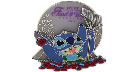 2014 Epcot Food Wine Stitch Pin