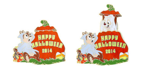 Happy Halloween Chip Dale Pin
