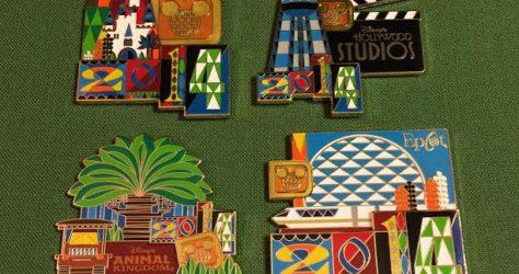 2014 Walt Disney World Jumbo Pins
