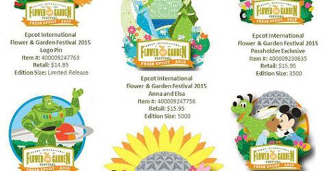 Epcot Flower & Garden Pins 2015