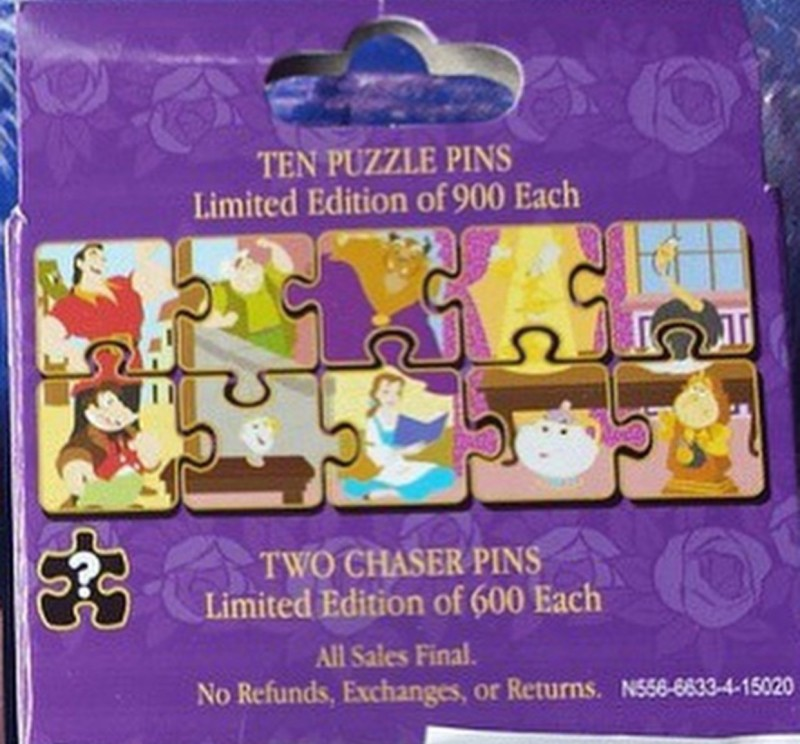 Beauty and the Beast Puzzle Pin Collection