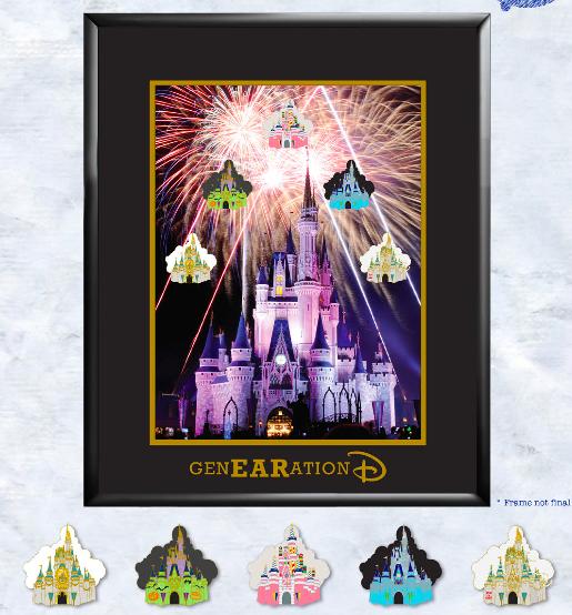 Cinderella Castle Framed Pin Set - GenEARation D