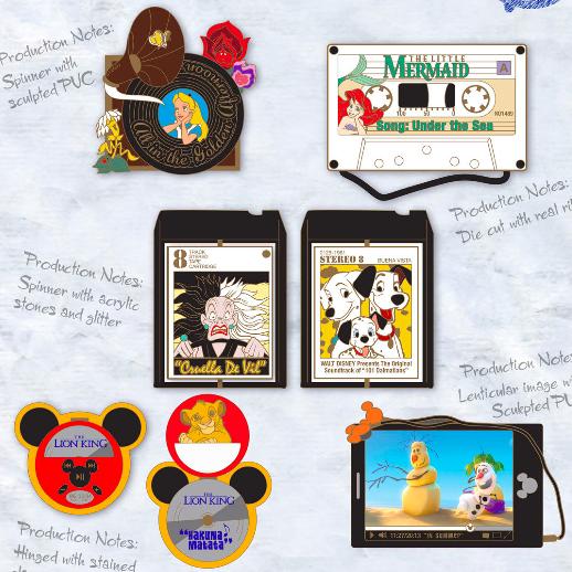 Disney Music Pin Set - GenEARation D
