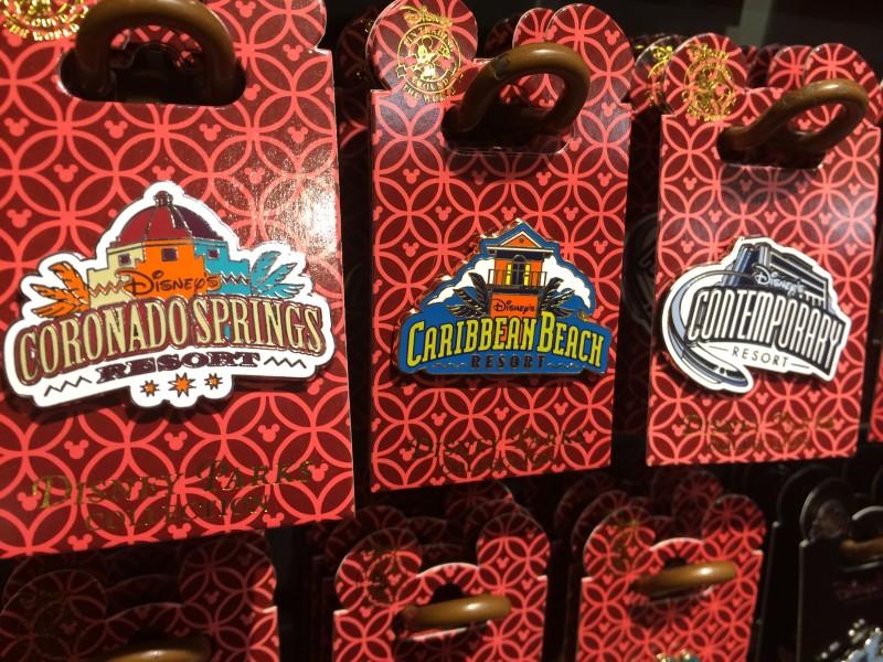 Disney Resort Pins - Coronado Springs, Caribbean Beach & Contemporary