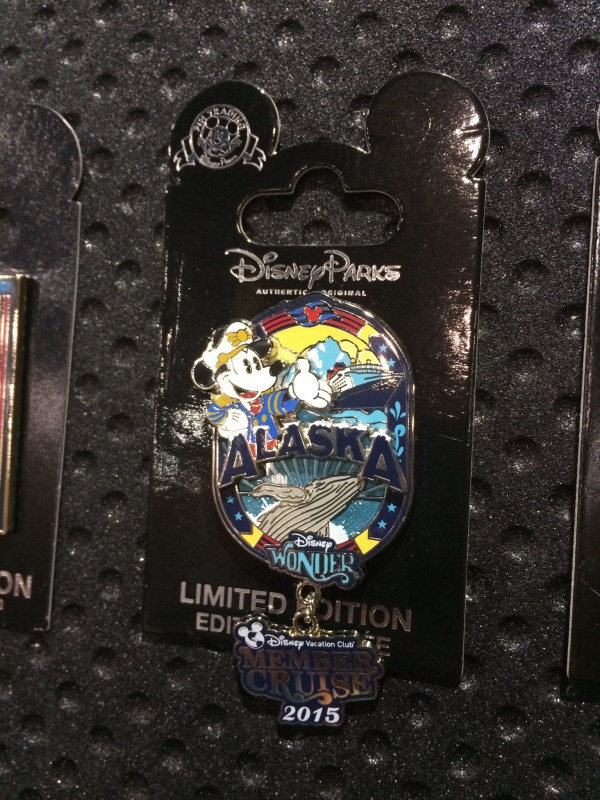 Disney Wonder Alaska Member Cruise Pin 2015