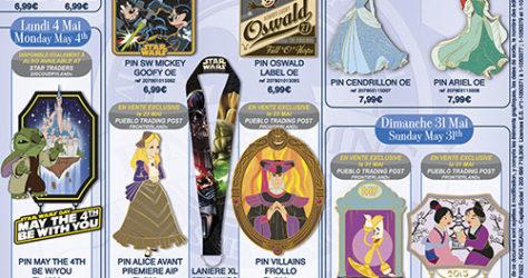 Disneyland Paris May 2015 Pins