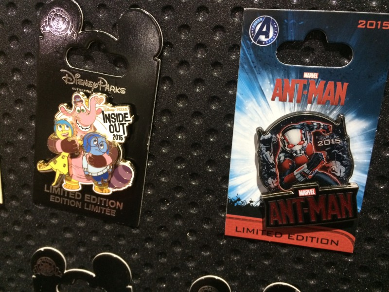 Inside Out and Ant-Man Pins