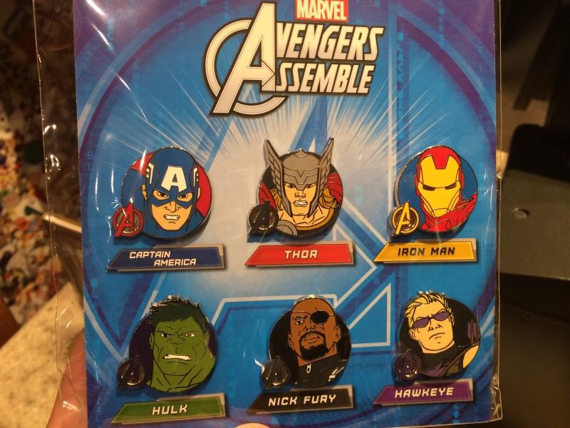 Marvel Avengers Booster Pin Set