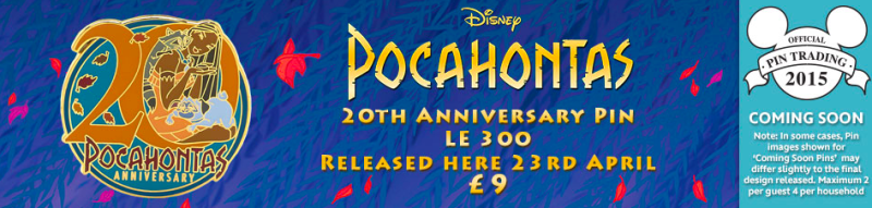 Pocahontas 20th Anniversary Pin - Disney Store UK