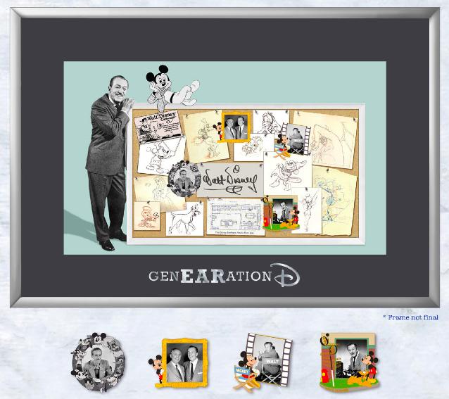 Walt Disney Framed Pin Set - GenEARation D