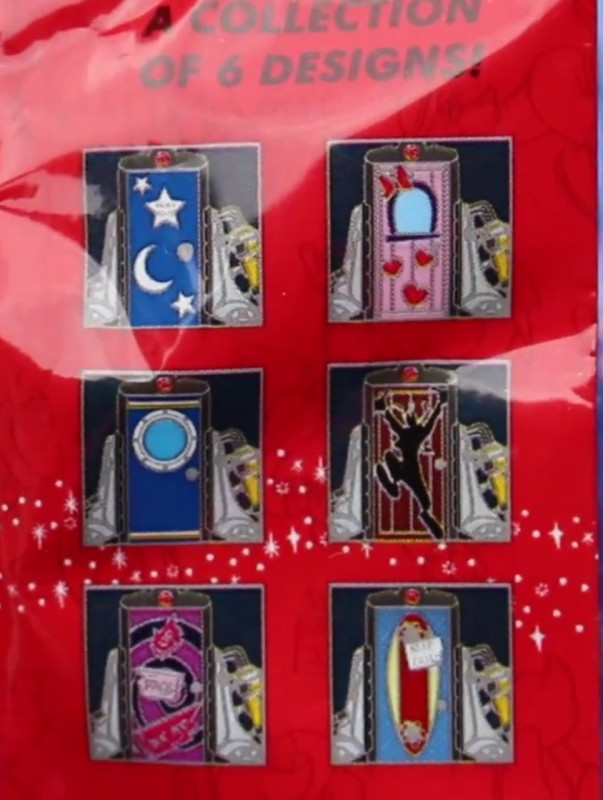 Back of Magical Mystery Series 8 Pin Pack