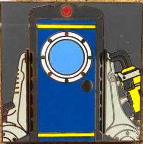 Close up of Door Pin