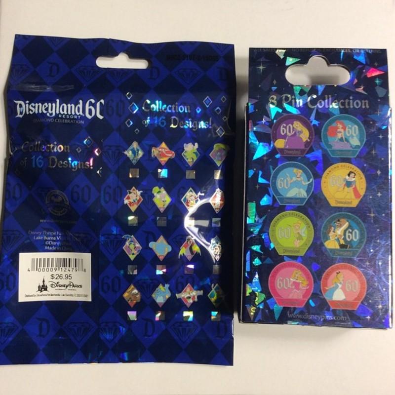 Disneyland 60th Mystery Pin Sets
