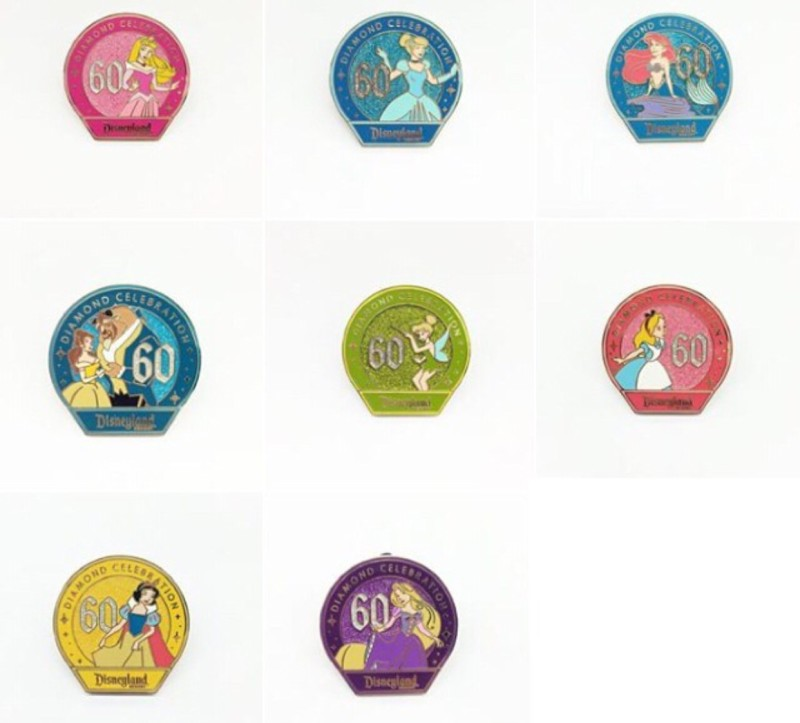 Disneyland 60th Mystery Pins