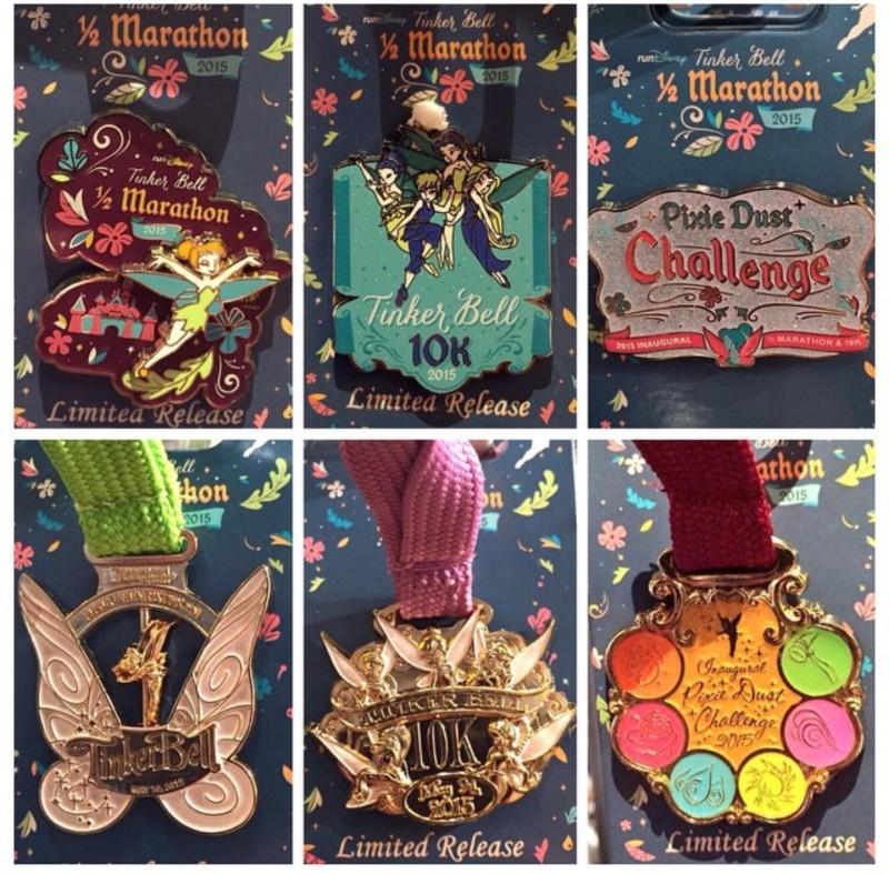 Tinker Bell Half Marathon Weekend 2015 Pins