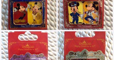 Hong Kong Disneyland 10th Anniversary Pins