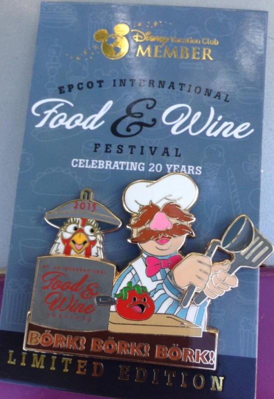 DVC Swedish Chef Pin - Epcot Food & Wine 2015