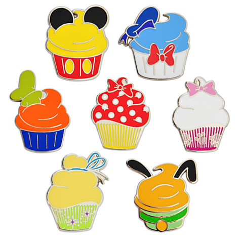 Disney Character Cupcake Pin Set