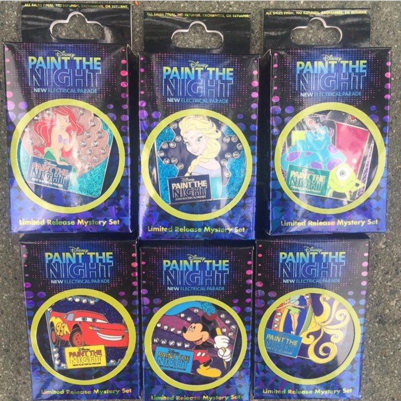 Disney Paint the Night Pin Collection