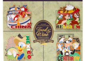 Epcot Food & Wine 2015 Pin Set