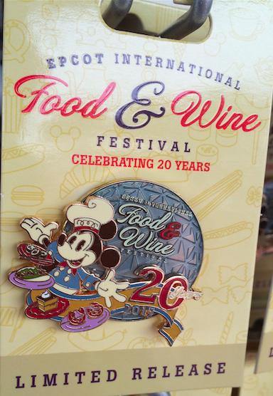 Epcot International Food & Wine Festival 2015 Logo Pin