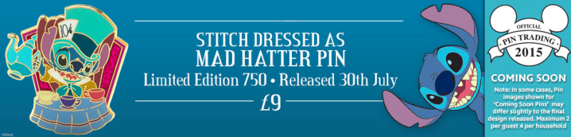 Stitch Dressed as Had Matter Pin