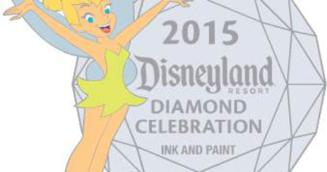 Tinker Bell Disneyland Diamond Celebration Pin 2015