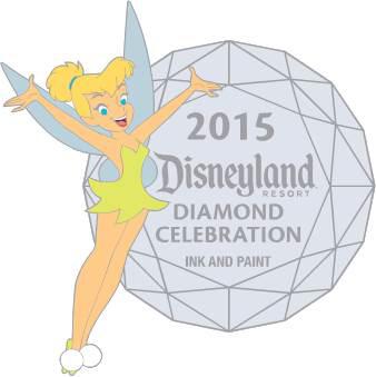 Tinker Bell Disneyland Diamond Celebration Pin 2015