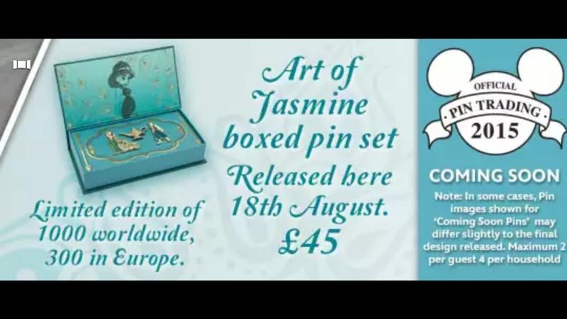Art of Jasmine Pin Set - Disney Store UK