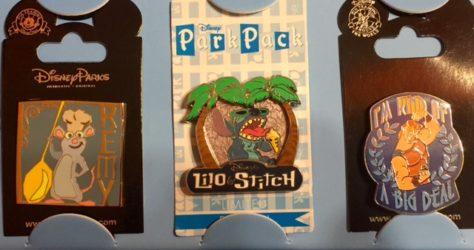 August 2015 Disney Park Pack Pins