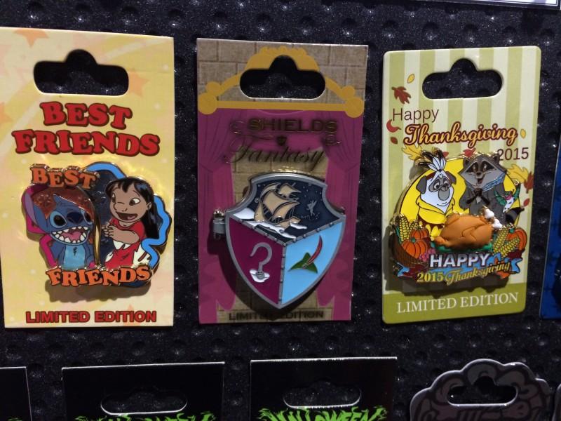 Best Friends, Shields of Fantasy, Thanksgiving Disney Pins 2015
