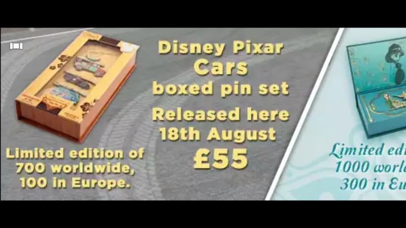Disney Pixar Car Pin Set - Disney Store UK