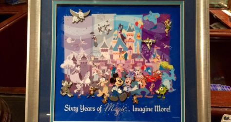 Disneyland 60th Anniversary Framed Pin Set