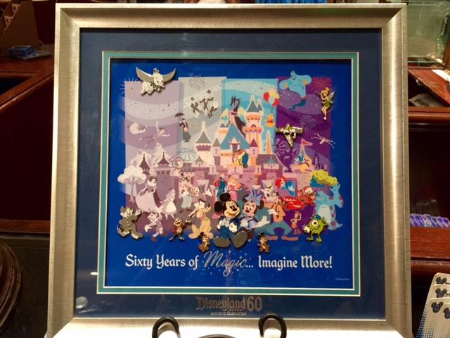 Disneyland 60th Anniversary Framed Pin Set