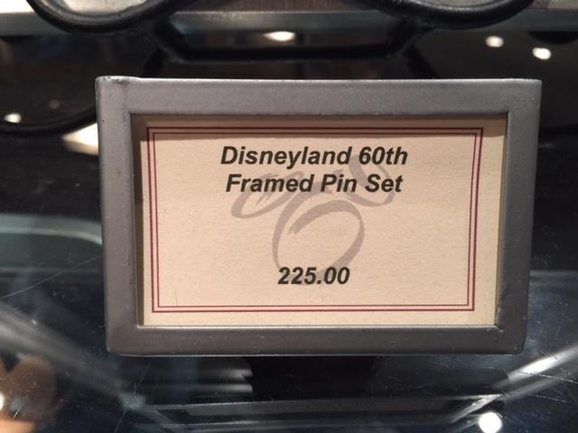 Disneyland 60th Framed Pin Set