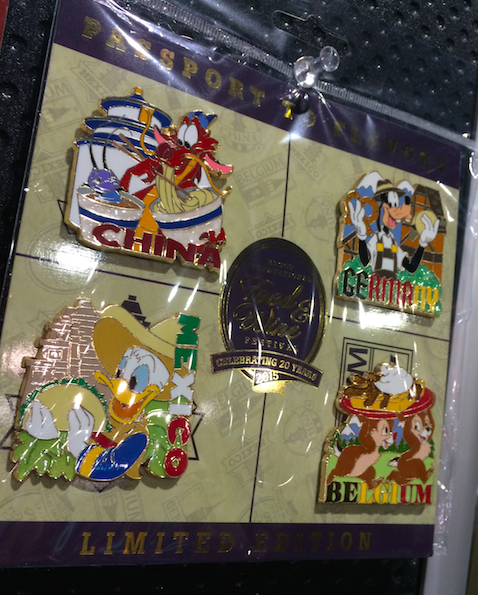 Epcot Food & Wine 2015 Booster Pin set