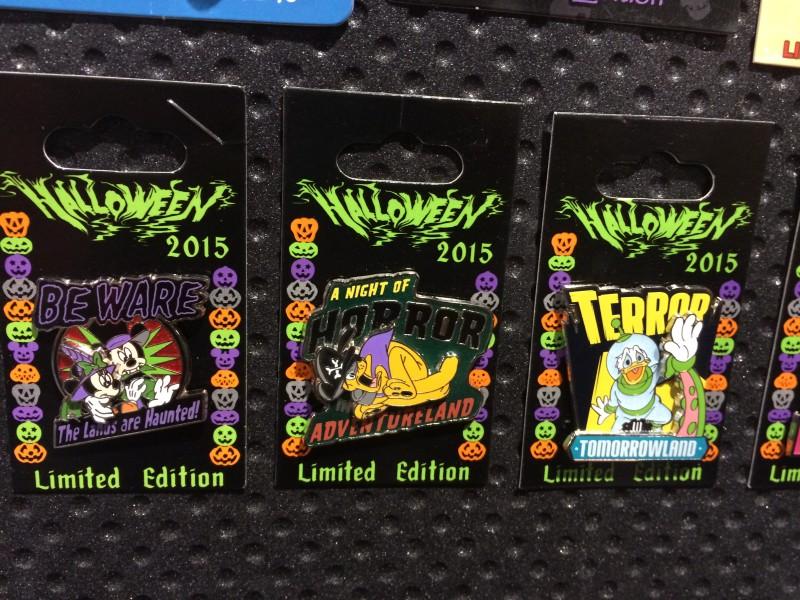 Halloween 2015 Lands Disney Pins