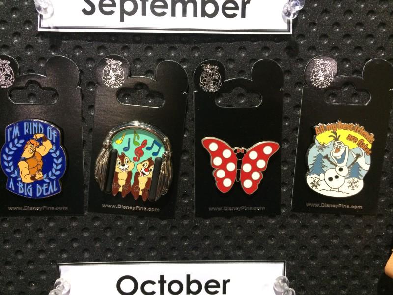 New September 2015 Disney Pins