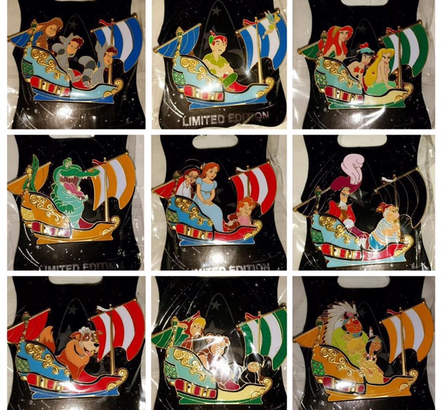 Peter Pan's Flight Pins - Mickey's of Glendale