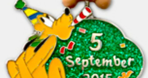 Pluto's Birthday PIn - September 5, 2015