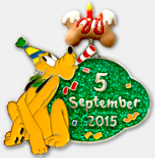 Pluto's Birthday PIn - September 5, 2015