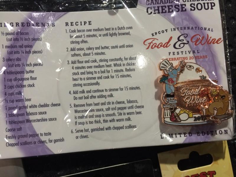 Remy Cheese Soup Disney Pin 2015